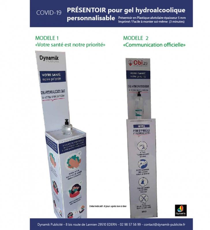 Présentoir gel hydroalcoolique